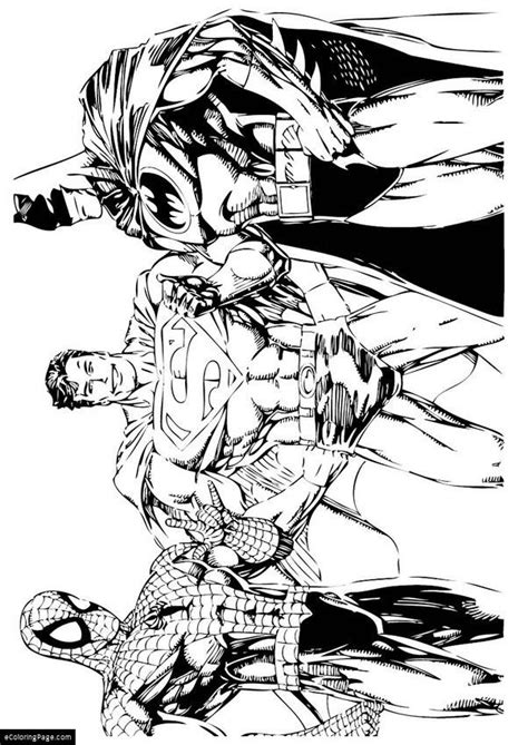 spider man and batman coloring pages