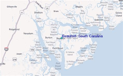 beaufort sc map beaufort south carolina tide station location guide