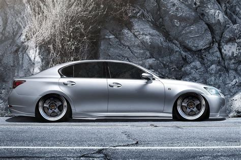 lexus gs350 slammed lexus gs350 f sport slammed on work meister 3 pc wheels