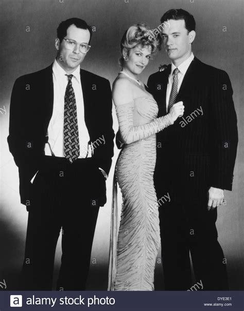 tom hanks melanie griffith and bruce willis on set of