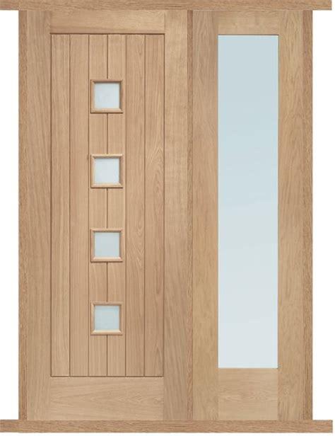 Exterior Door And Frame Sets Siena Oak External Side Panel Door Set Front Doors Side Door And Frame Sizes