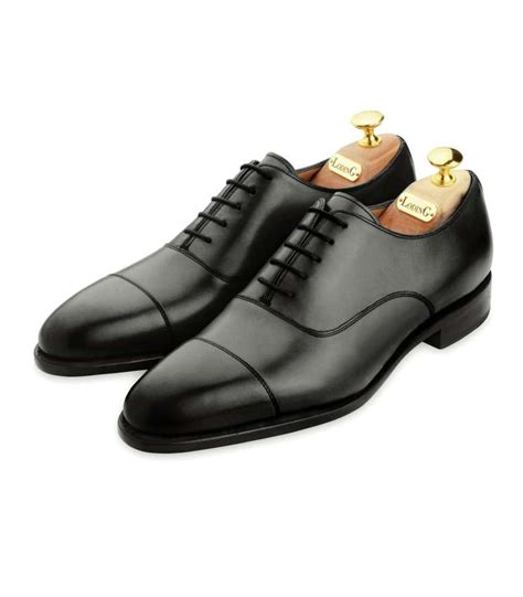 toe cap oxford shoes calf leather oxford shoes with toe cap and