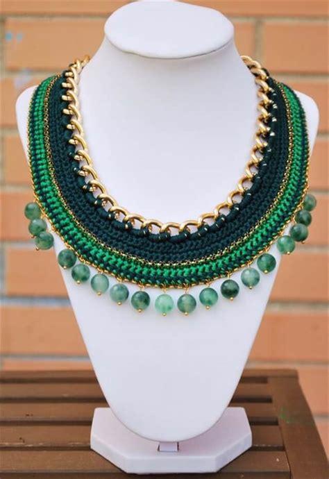 simple crochet necklace ideas diy