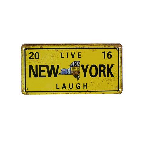 Metal Plate Metal Plaque Tin Signs vintage tin signs new york signboard metal plate
