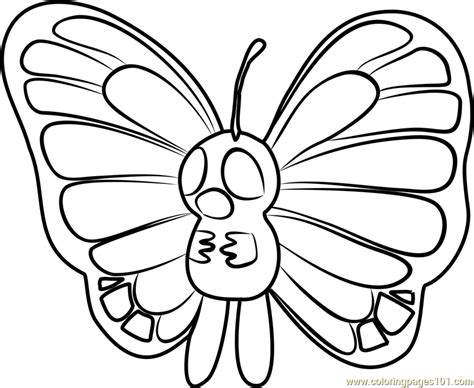 pokemon coloring pages butterfree butterfree pokemon go coloring page free pok 233 mon go