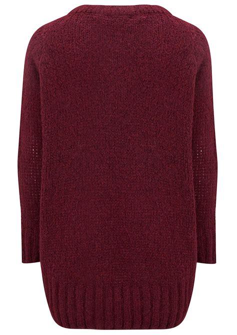 maroon knitted jumper american vintage boolder knitted jumper burgundy