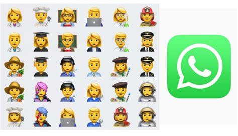 imagenes de emoji de whatsapp whatsapp estos son los nuevos emojis que ya puedes tener