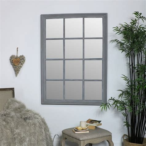 large grey rectangle window mirror windsor browne