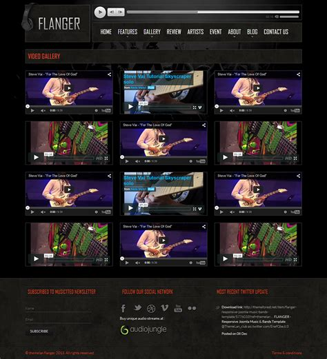 flanger responsive html5 music band template by