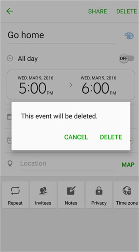 Delete Calendar Creating Editing And Deleting Galaxy S7 Calendar Events
