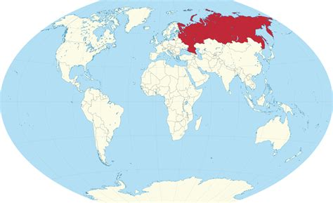 russia map of the world location of russia on world map