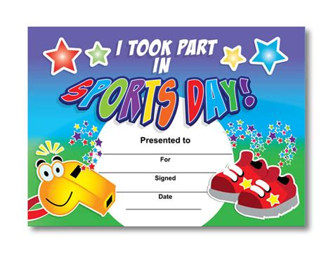 sports day certificate template i took part in sports day certificates