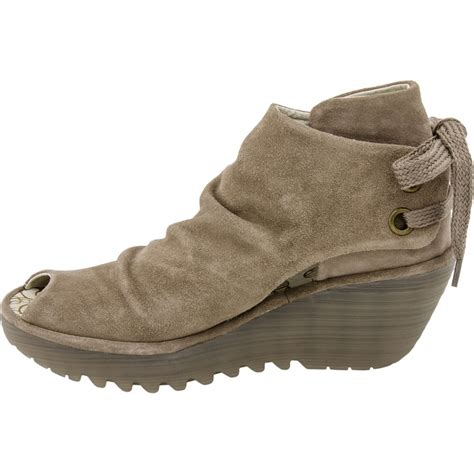 fly yema suede wedge shoe boot sand fly