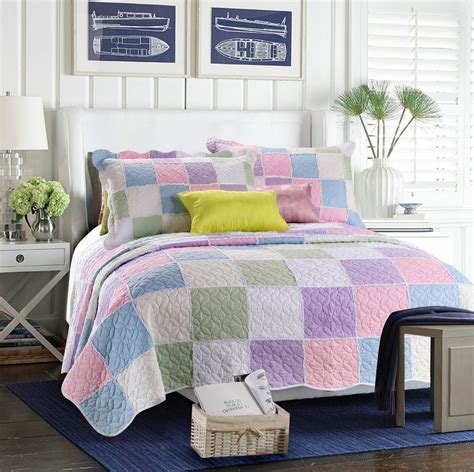 king size coverlet set 3 pieces cotton quilting bedspread sets patchwork