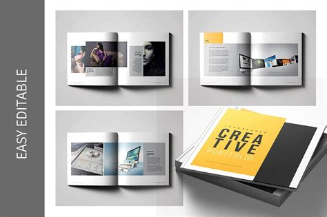 9 Graphic Design Portfolio Exles Editable Psd Ai Indesign Format Download Portfolio Format Template