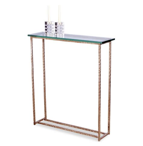 sofa table glass edland modern silver leaf glass console sofa table kathy