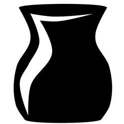 clipart short vase