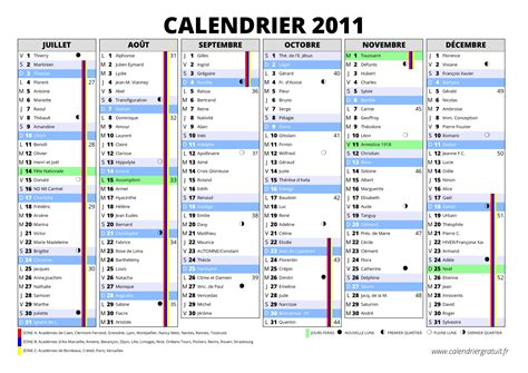 Calendrier 2011 Excel Calendrier 2011