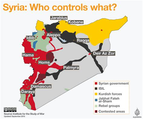 syria live map syrian civil war map al jazeera
