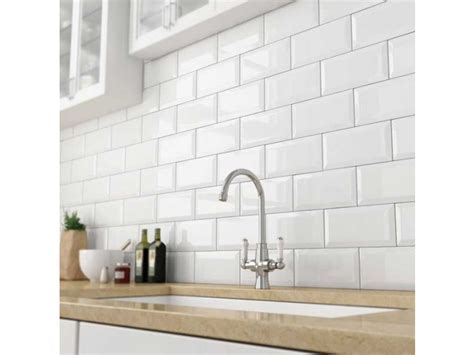 bevelled white gloss subway tile 75x150mm subway tiles - Daltile Subway Fliese