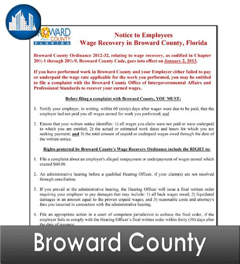 Broward County Florida Records Broward County Fl Laminated Workplace Poster Package