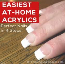 easiest diy acrylic nails remakingjune