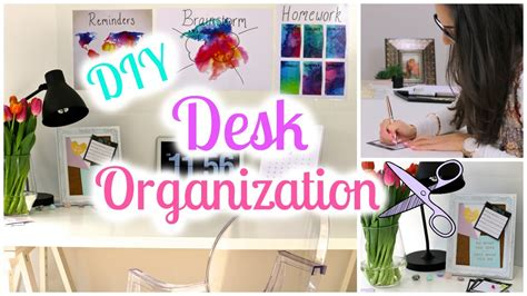 desk organization ideas diy diy desk decor and organization ideas back to school