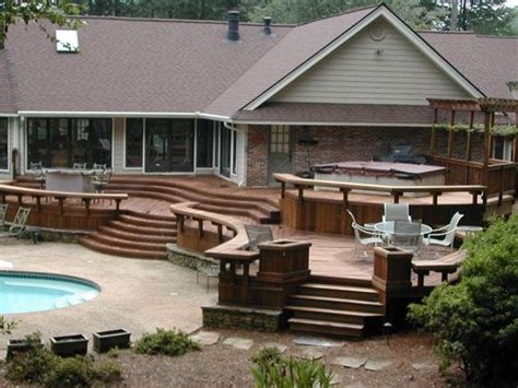 Small Home Designs With Deck Deck Ideas Pool Deck Design Ideas With Rounded