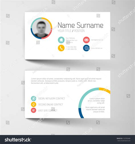 business card template millions of users modern simple light business card template with flat user