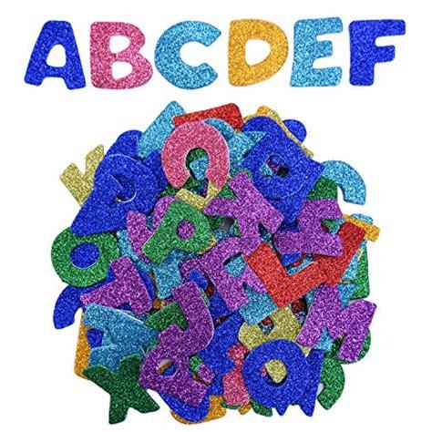 Buchstaben Aufkleber Glitzer by Eboot Glitter Schaumstoff Aufkleber Buchstaben Sticker