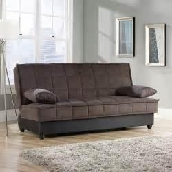 sauder bayshore convertible sofa chocolate walmart