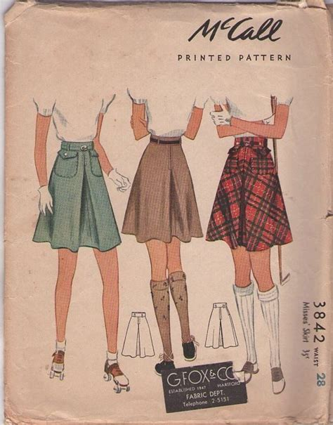 how to sew a swing skirt mccall s 3842 vintage 40 s sewing pattern sporty swing
