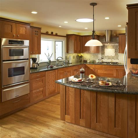 Light Cherry Cabinets Kitchen Pictures Kitchen Countertop Lighting