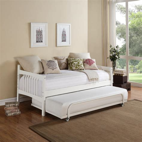 sofa with pop up trundle white wood daybeds bedroom wooden daybed with trundle