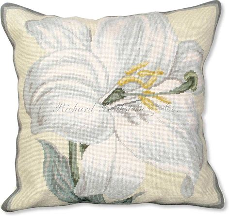 Needlework Pillows by Floral Throw Pillows Needlepoint Pillow Floral