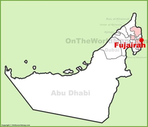 resort fujairah map fujairah location on the uae united arab emirates map
