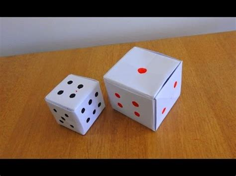 how to make a paper dice tutorial step by step