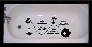non skid decal for bathtub shower treasure map by vinyltastic