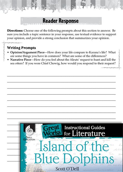 Island Of The Blue Dolphins Essay by Island Of The Blue Dolphins Reader Response Writing Prompts Teachers Classroom Resources