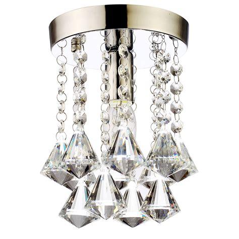 mini crystal light chandelier flush mount l ceiling