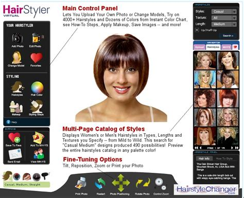 upload your picture for hairstyles virtual hairstyle changer online hair style changer com