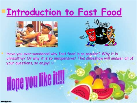 Power Point Presentation On Traditional And Fast Food Fast Food Ppt Slides