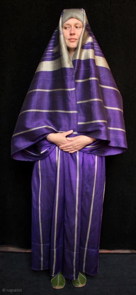 striking syrian woman s silk robe called an abba or abbah