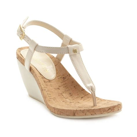 ralph wedge sandals by ralph rosalia wedge sandals in lyst