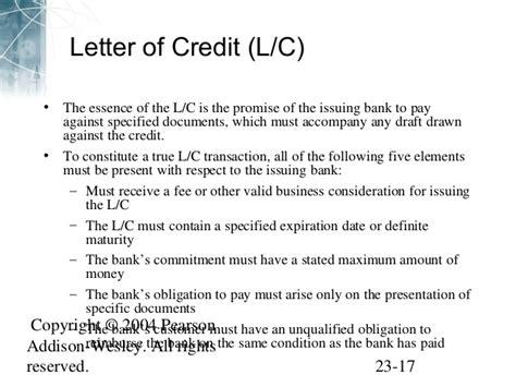 Letter Of Credit Expiration Date eiteman 178912 ppt23 v1