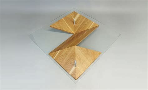 Origami Folding Table - modern coffee table in unique folded shape origami