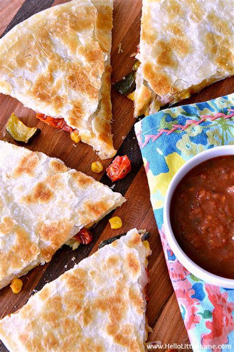 vegetables quesadilla recipe easy roasted vegetable quesadillas hello home