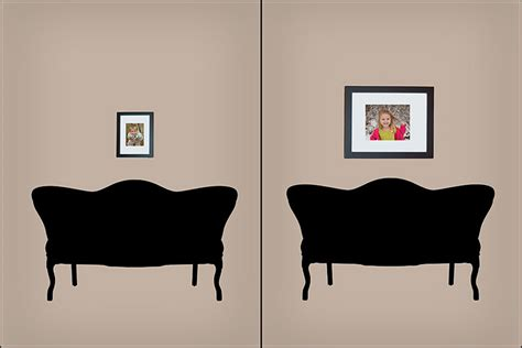 arranging pictures over sofa how to arrange photos and art