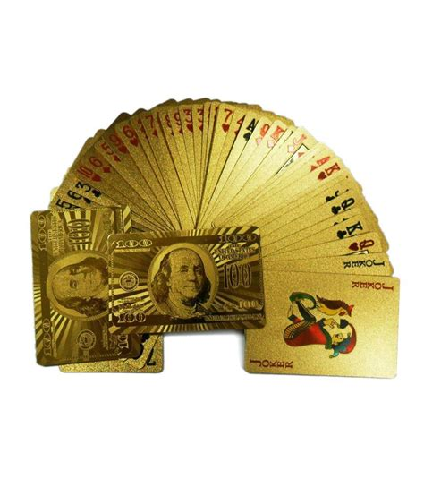 Plated Gift Card - gold plated playing cards and silver best price in india as on 2016 march 20 compare