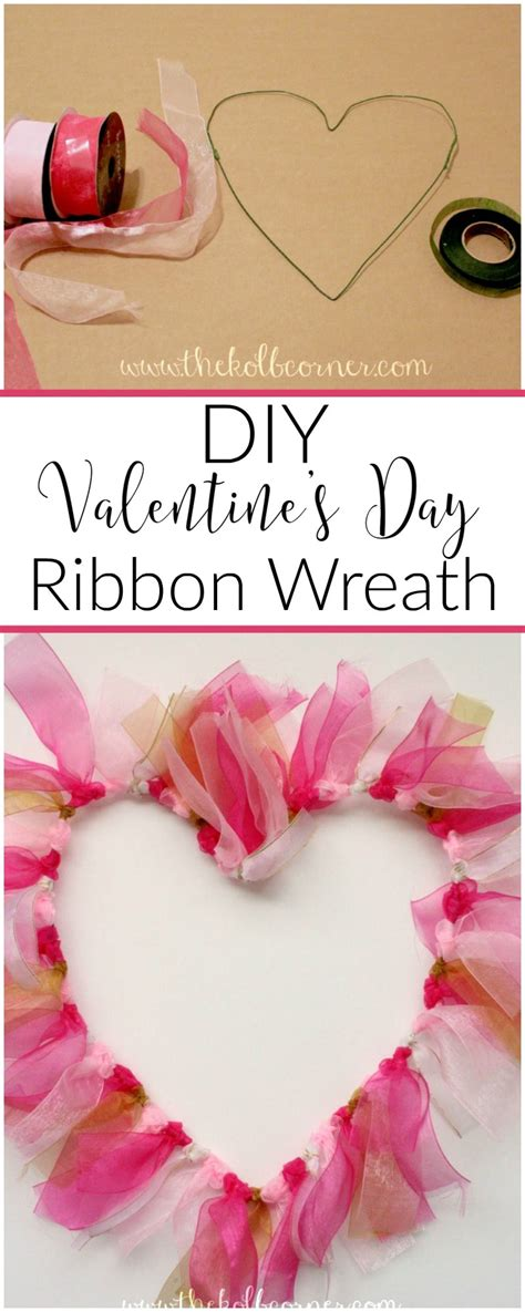 valentines day ribbon s day ribbon wreath domestically creative
